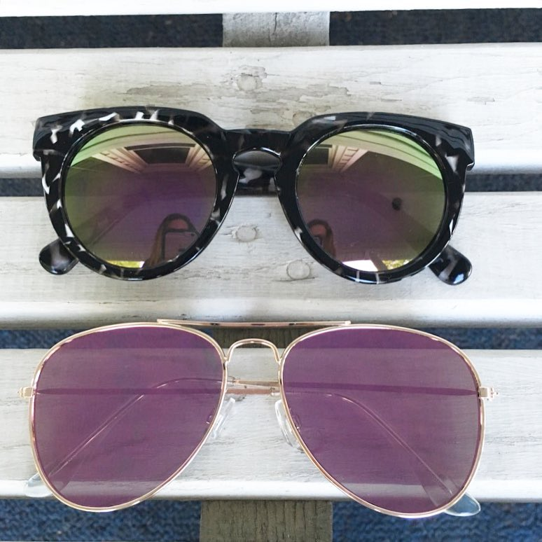 Loft sunglasses, mirrored sunglasses