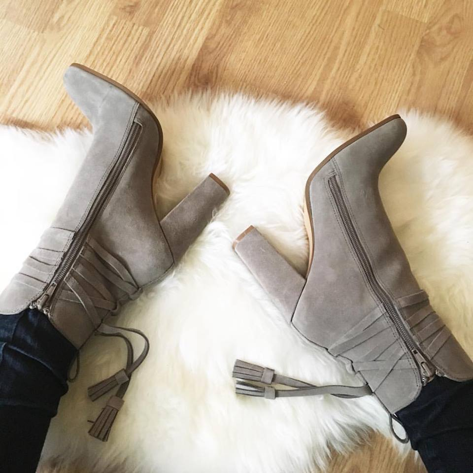 Steve Madden boooties, #nsale, grey booties, tassel booties, fall booties