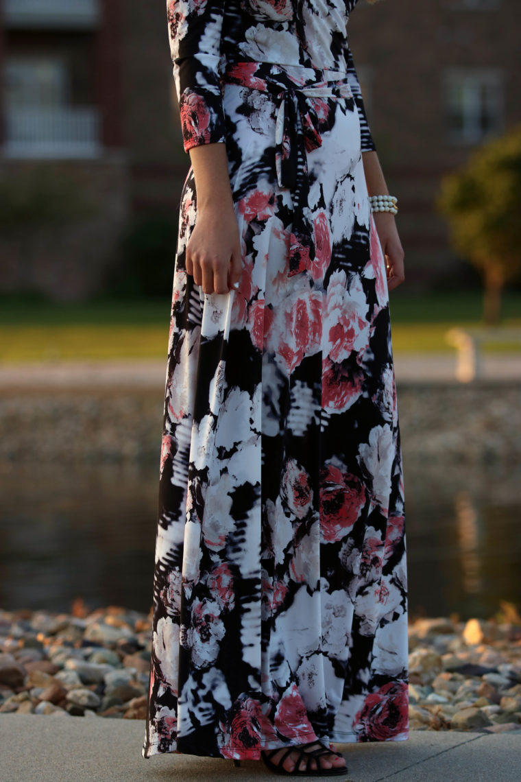 floral maxi dress, Tara Lynn's Boutique, Summer