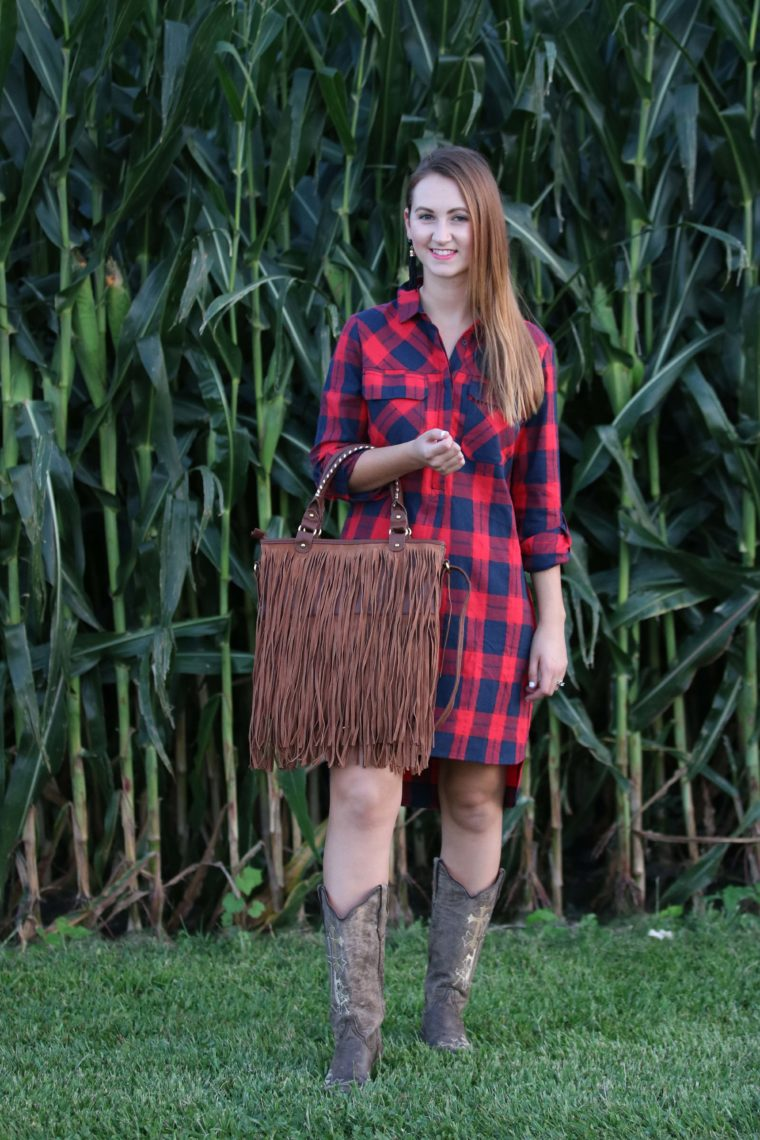 tunic dress, fringe bag, country girl, cowgirl boots