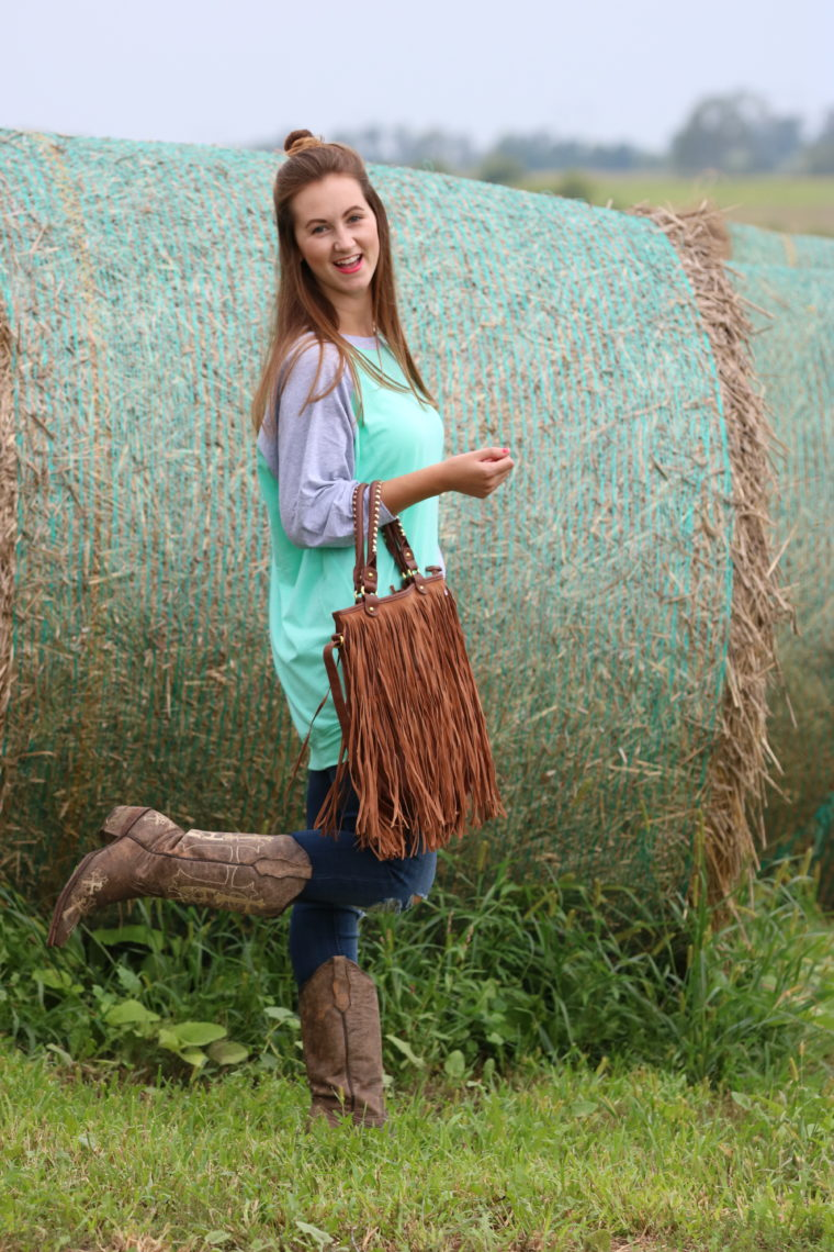 Cavenders, cowgirl boots, slouchie, Mint Julep Boutique