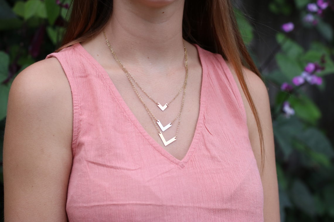 layered necklace, gold, silver, rose gold, Taudrey