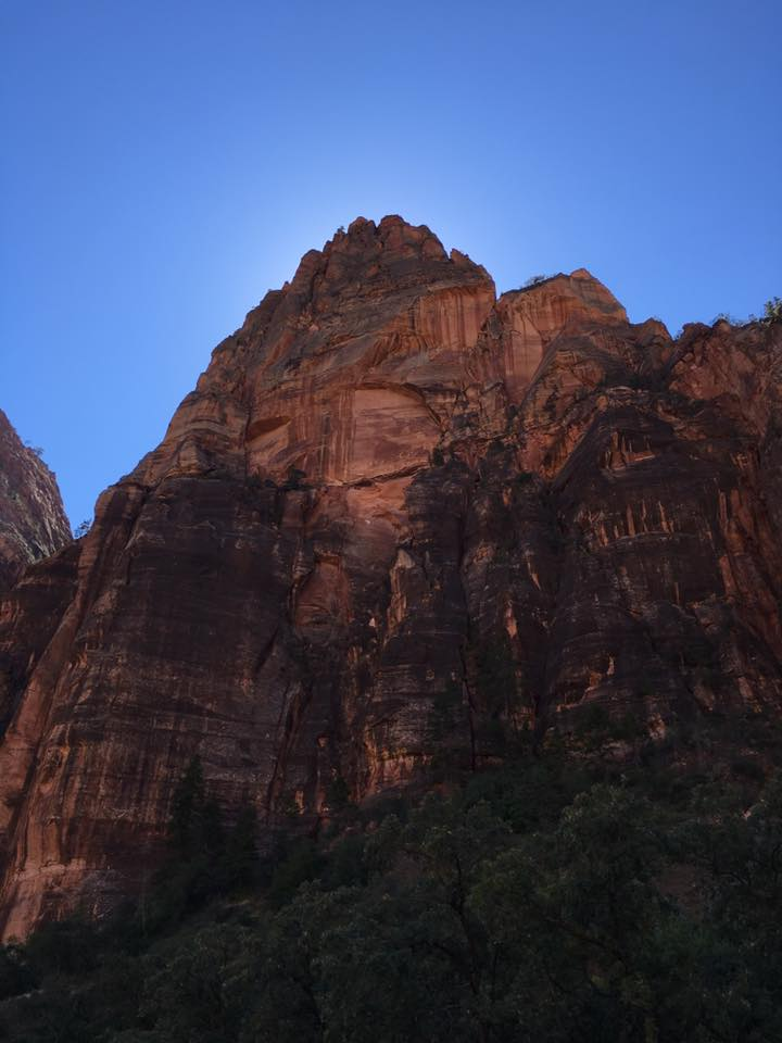 blue sky, cliff, canyon, Zion National Park