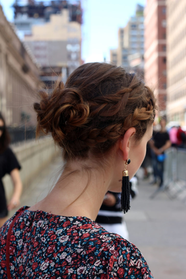 braid bun, Tresemme, Moynihan Station, New York