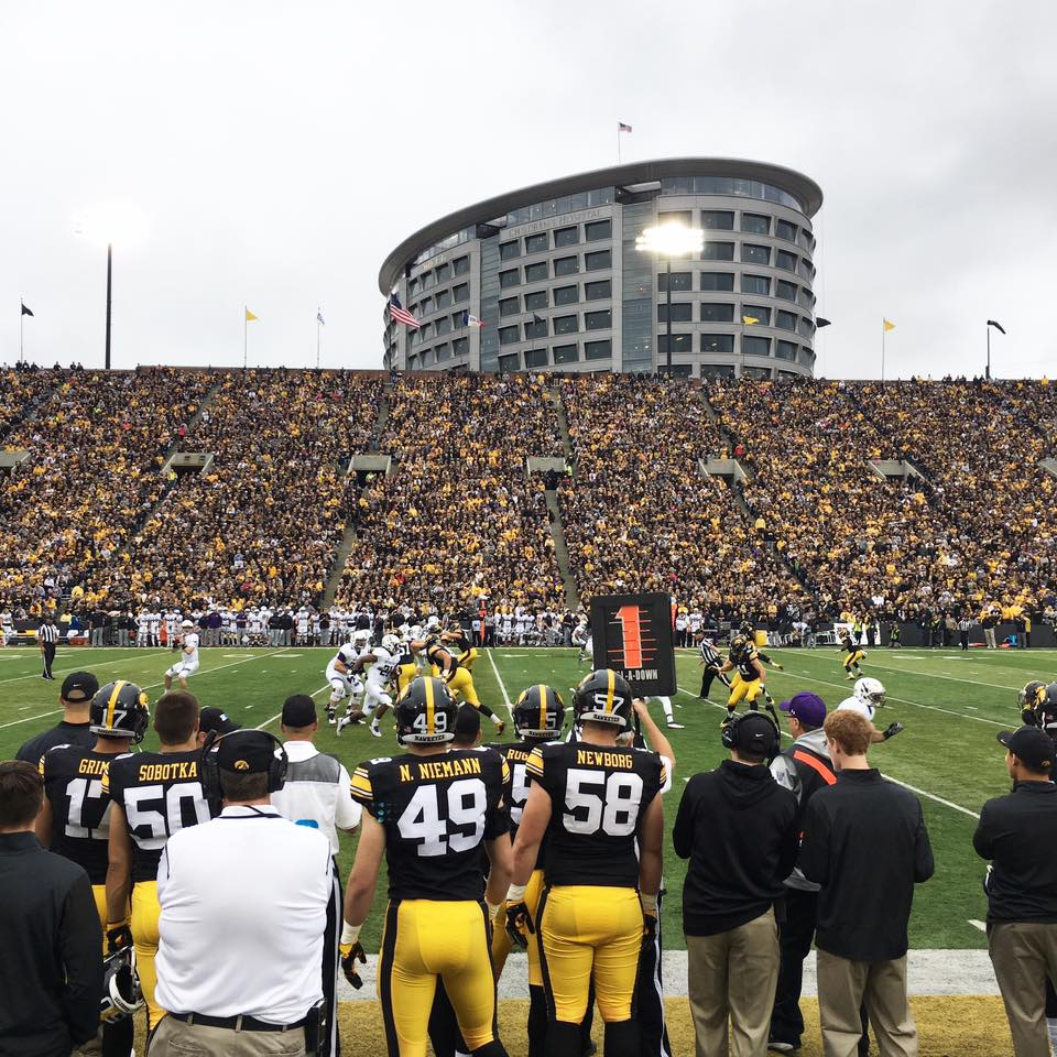 Iowa love, Iowa Hawkeyes, black and gold, Iowa football, fall game