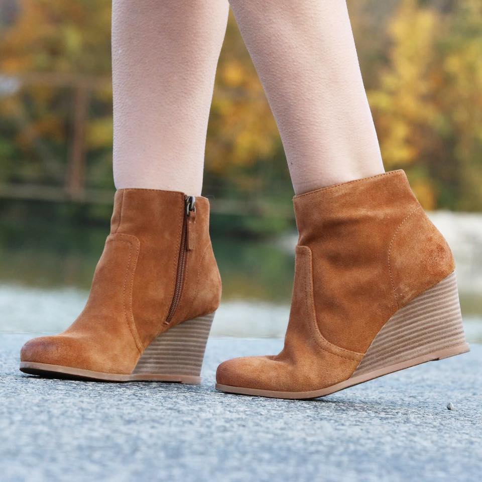 suede booties, brown booties, wedge booties, Nordstrom