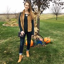 thanksgiving outfit, booties, corduroy vest, GiGi New York bag, fall look
