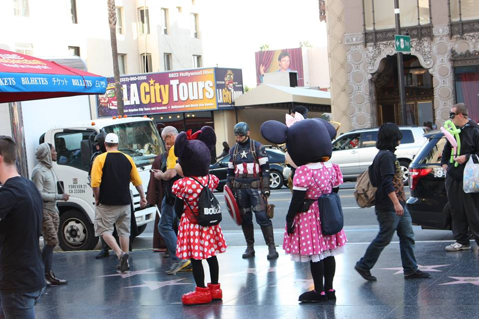 downtown Hollywood, California, mickey mouse, mini mouse, Hollywood