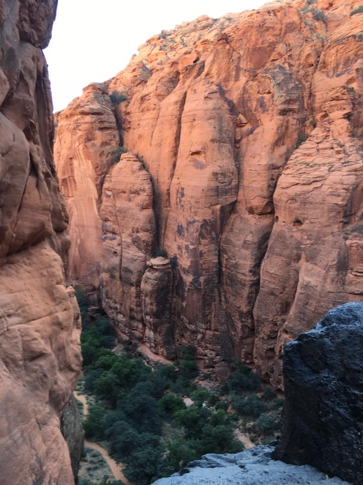 rappelling, St. George, Utah, cliffs
