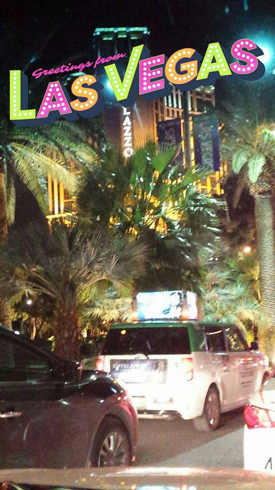 Las Vegas, busy streets, palm trees