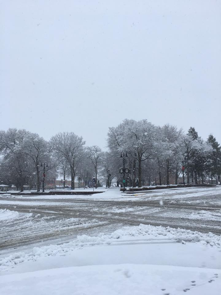 snow, first snowfall, winter, Iowa snow