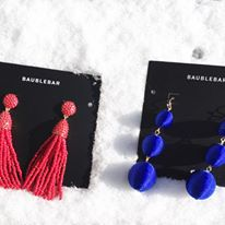 tassel earrings, drop earrings, Baublebar, festive earrings