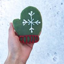 Panera cookie, mitten cookie, winter