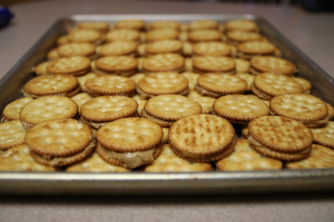 ritz crackers, peanut butter, chocolate, Christmas cookies