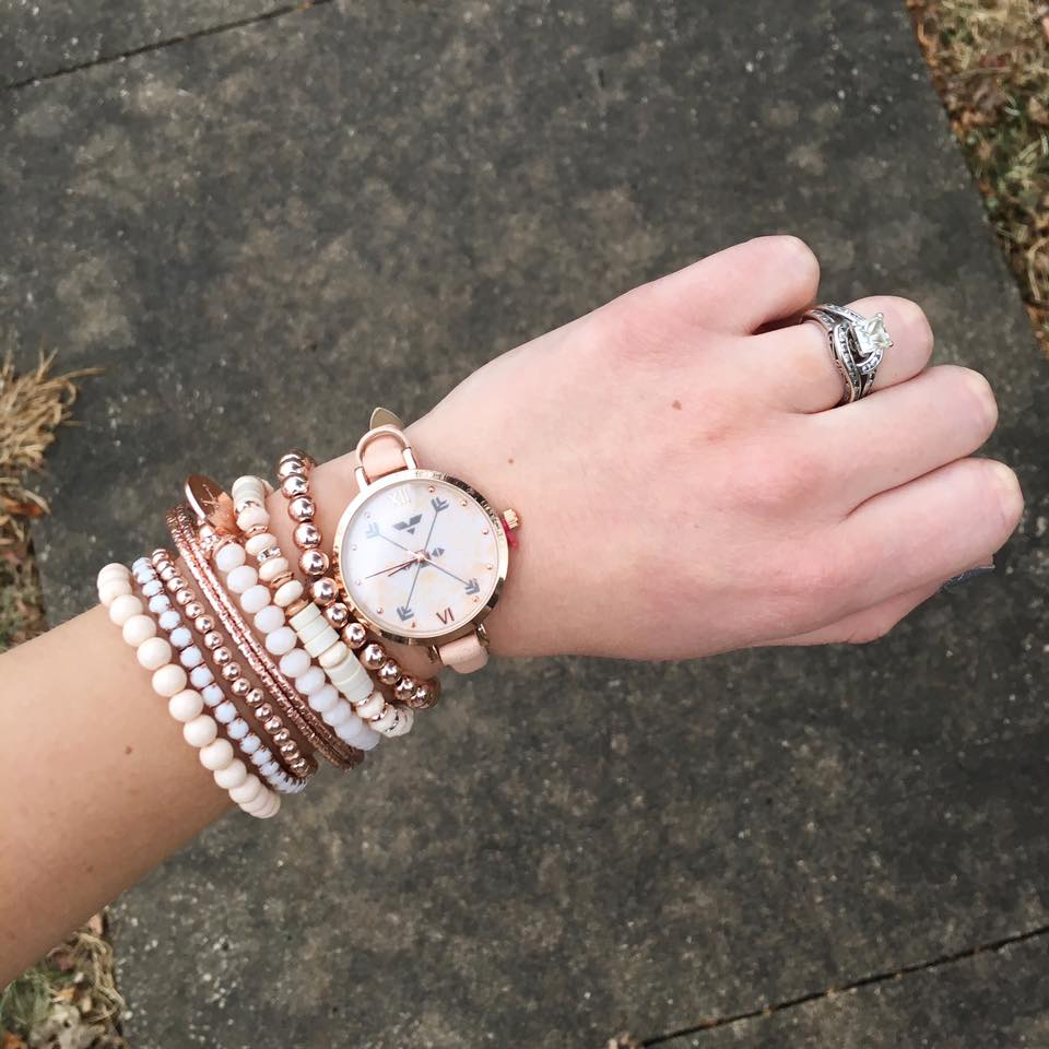 for the love of glitter, rose gold bracelets, rose gold watch