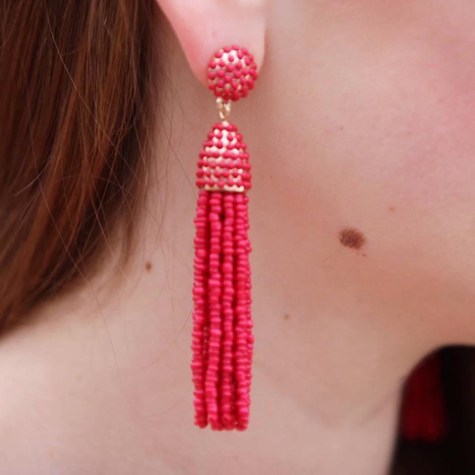 for the love of glitter, tassel earrings, jewelry