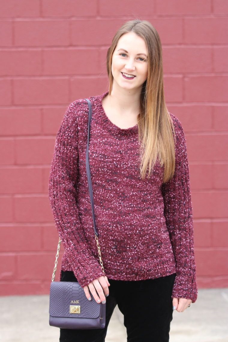Wearing a super comfy look on the blog today!