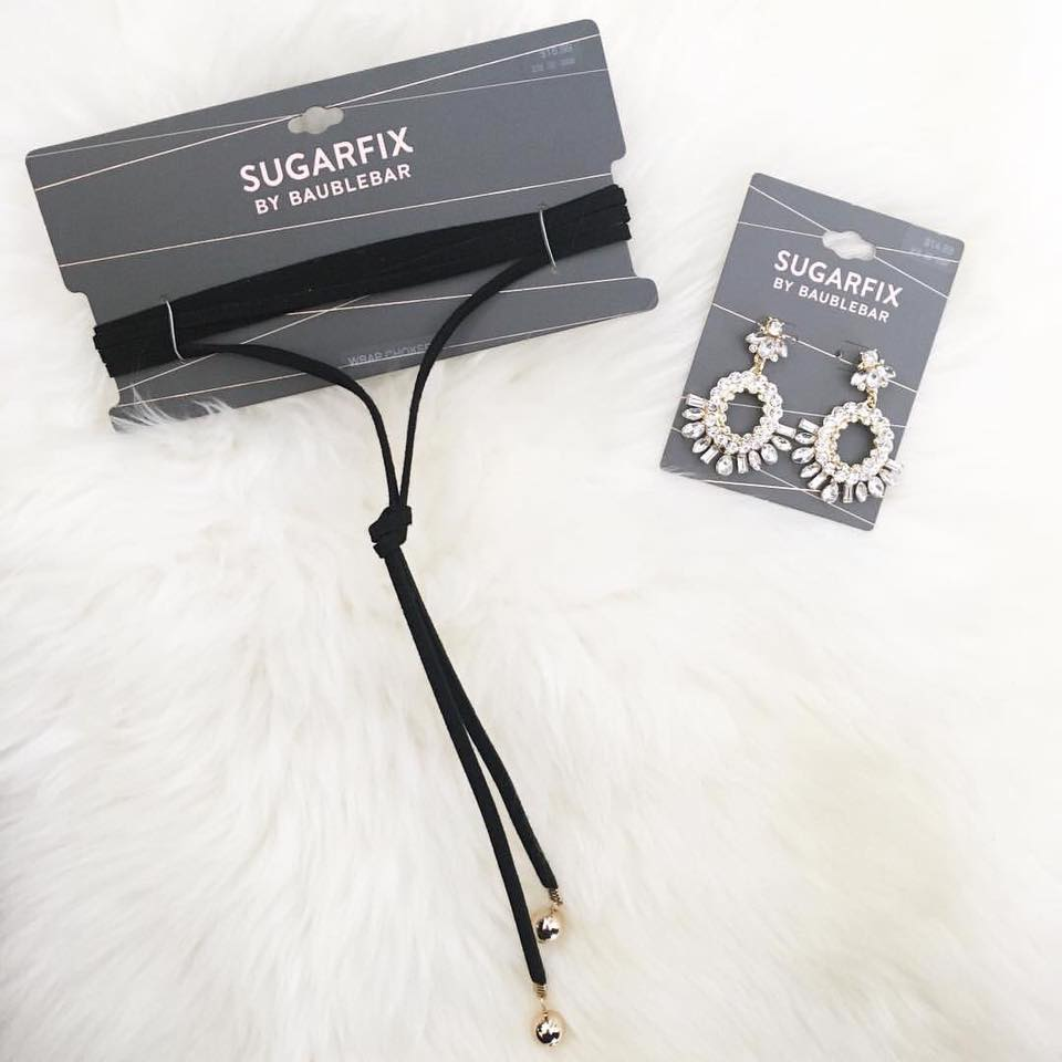 for the love of glitter, Baublebar, suagrfix, Target, choker, statement earrings