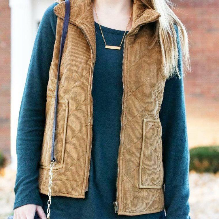 for the love of glitter, women's fashion, corduroy vest