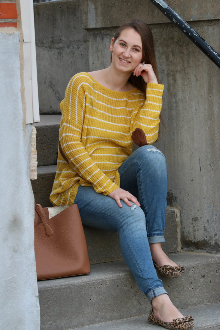 for the love of glitter, women's fashion, mustard yellow top