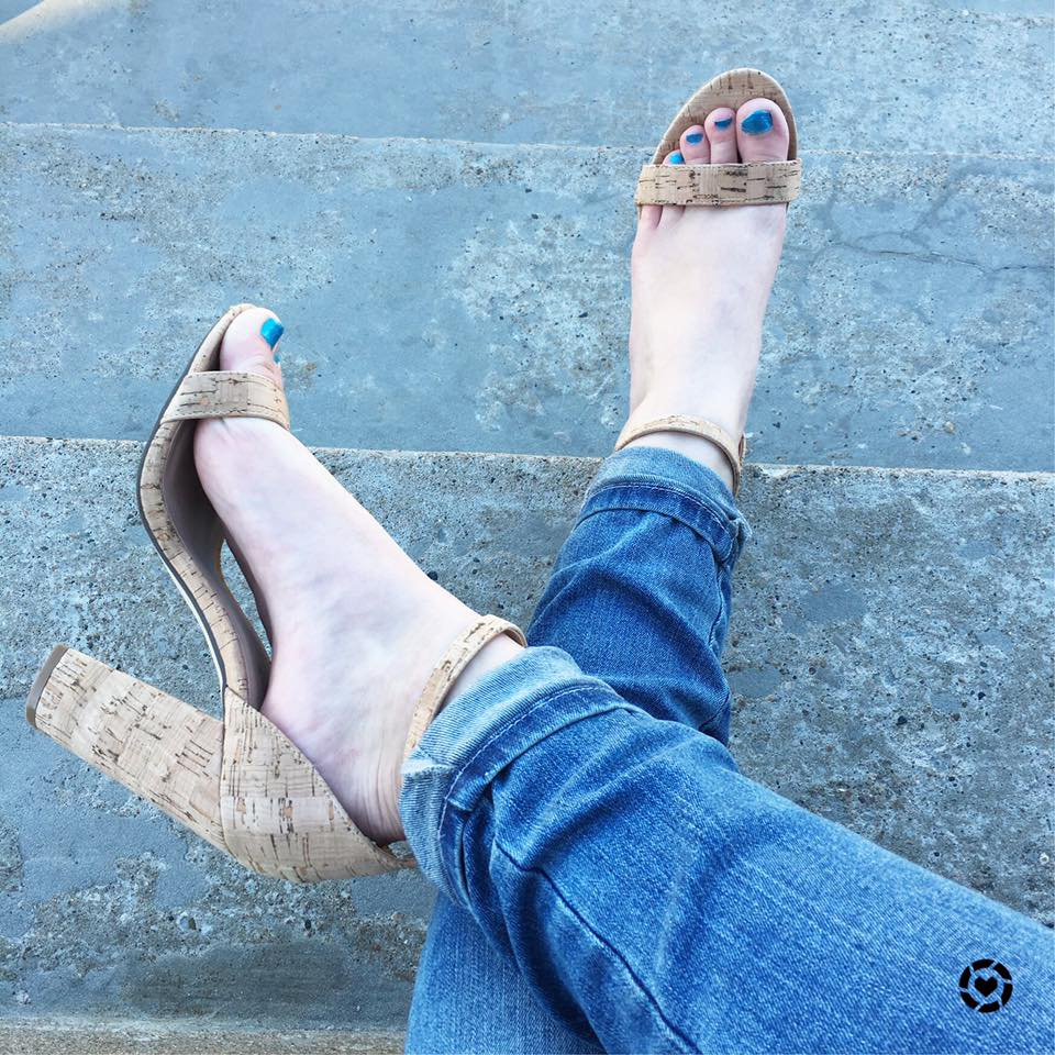 for the love of glitter, shoes, cork shoes, ShoeDazzle