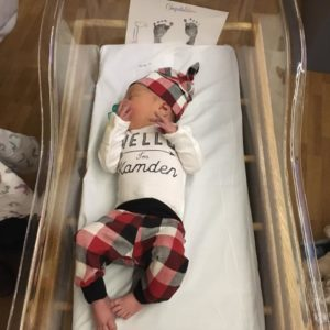 baby boy, customized going home outfit, 2 days old