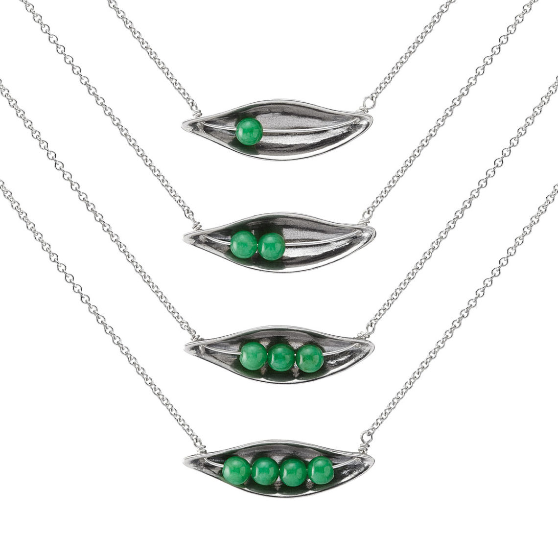 peas in a pod necklace, Uncommongoods, Mother's Day gift ideas