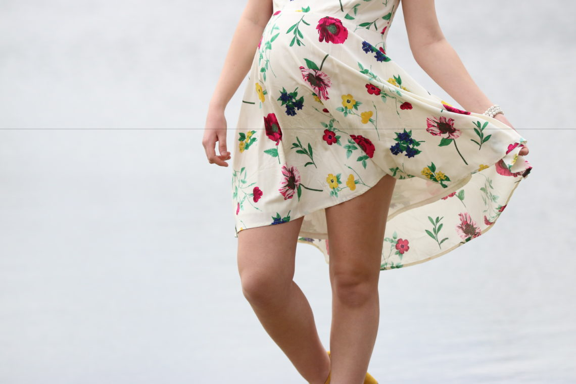 Fit & Flare Floral Dress For Easter
