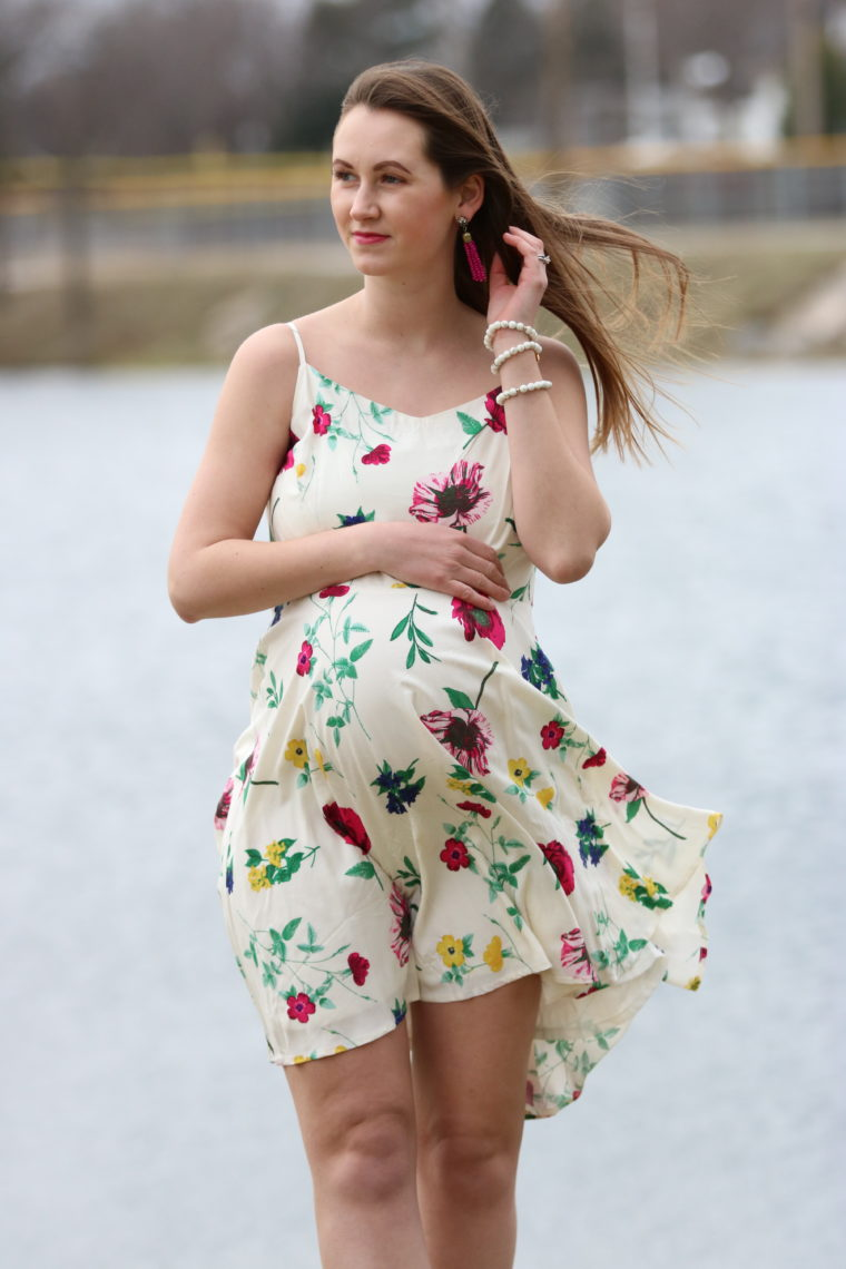 for the love of glitter, women's fashion, floral dress, Easter dress spring style