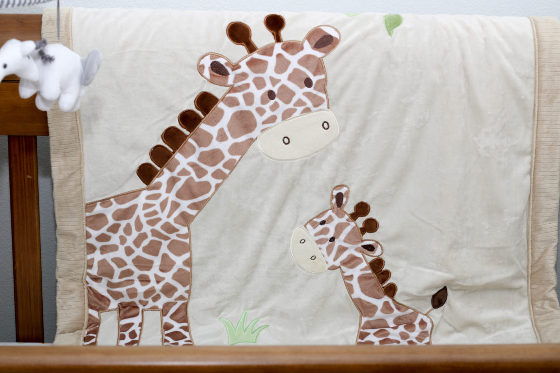 for the love of glitter, giraffe blanket, safari nursery