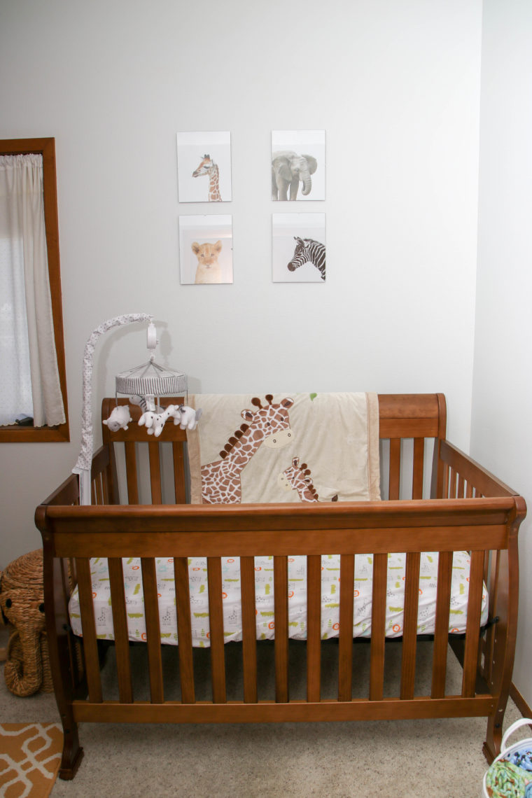 for the love of glitter, safari prints, safari nursery, giraffe blanket