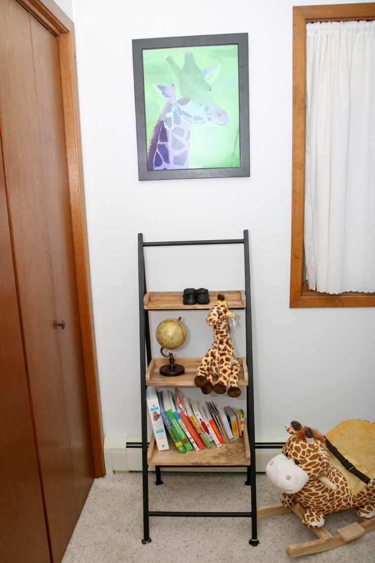 for the love of glitter, giraffe print, safari nursery