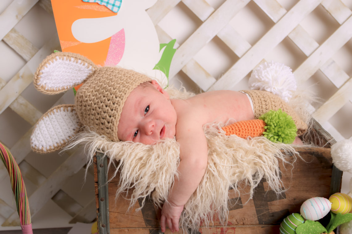 for the love of glitter, newborn photos, newborn easter bunny outfit