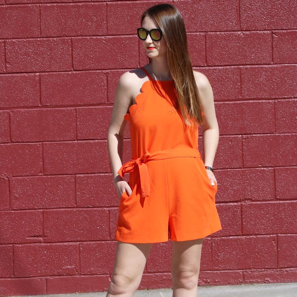 for the love of glitter, scallop romper, Victoria Beckham, women's fashion, Summer style