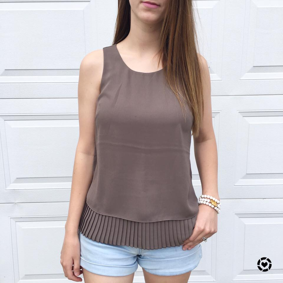 for the love of glitter, pleated underlay tank, Summer style