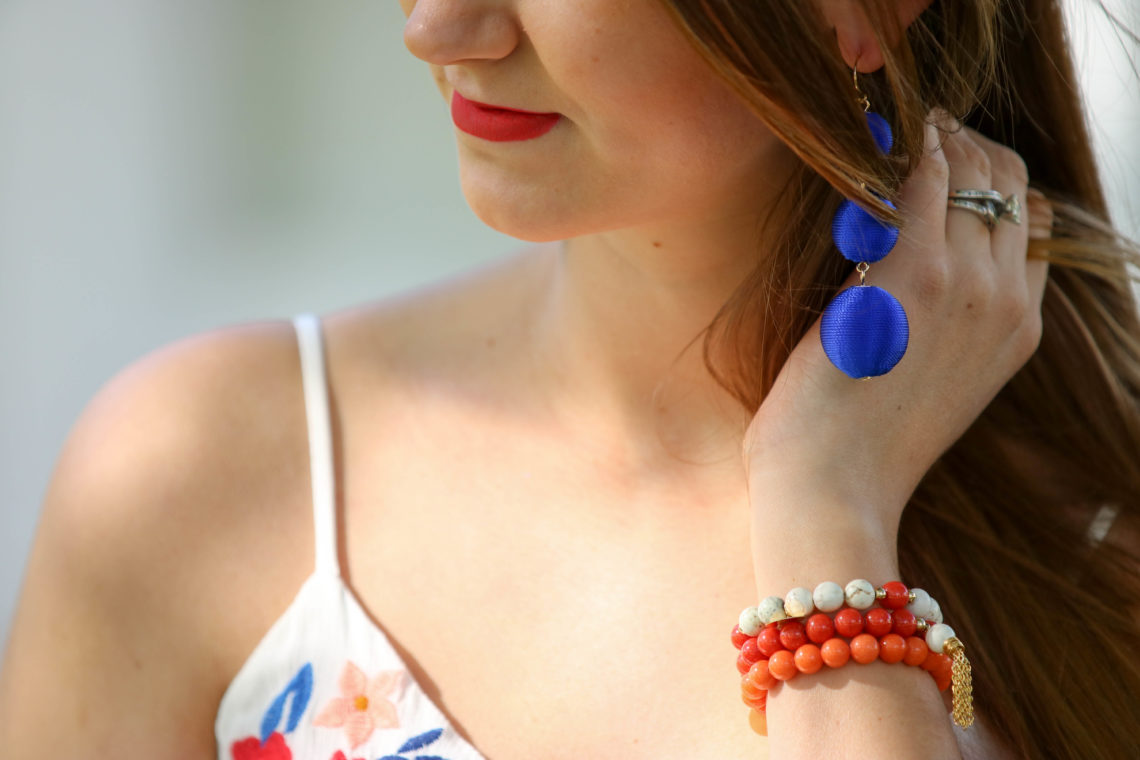 for the love of glitter, Baublebar earrings, bracelets, beach look