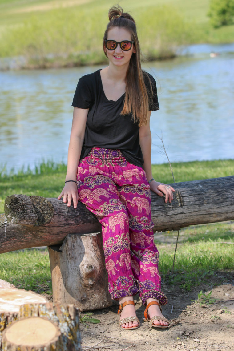 for the love of glitter, elephant pants, women's fashion, bohemian island