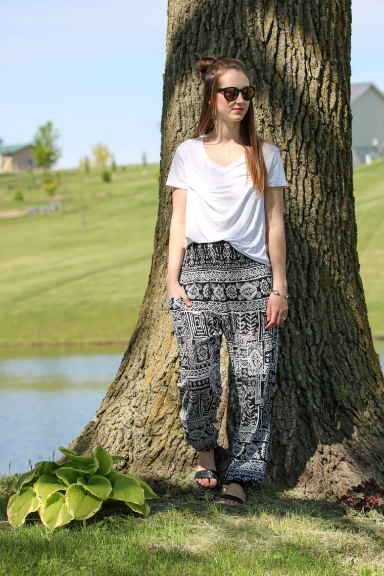 for the love of glitter, tribal pants, bohemian pants, women's fashion