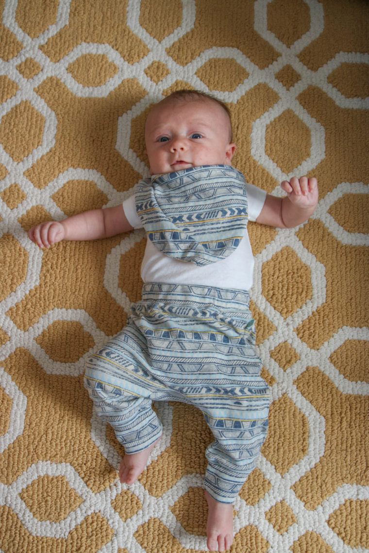Finn + Emma, baby boy clothing, tribal stripe pants