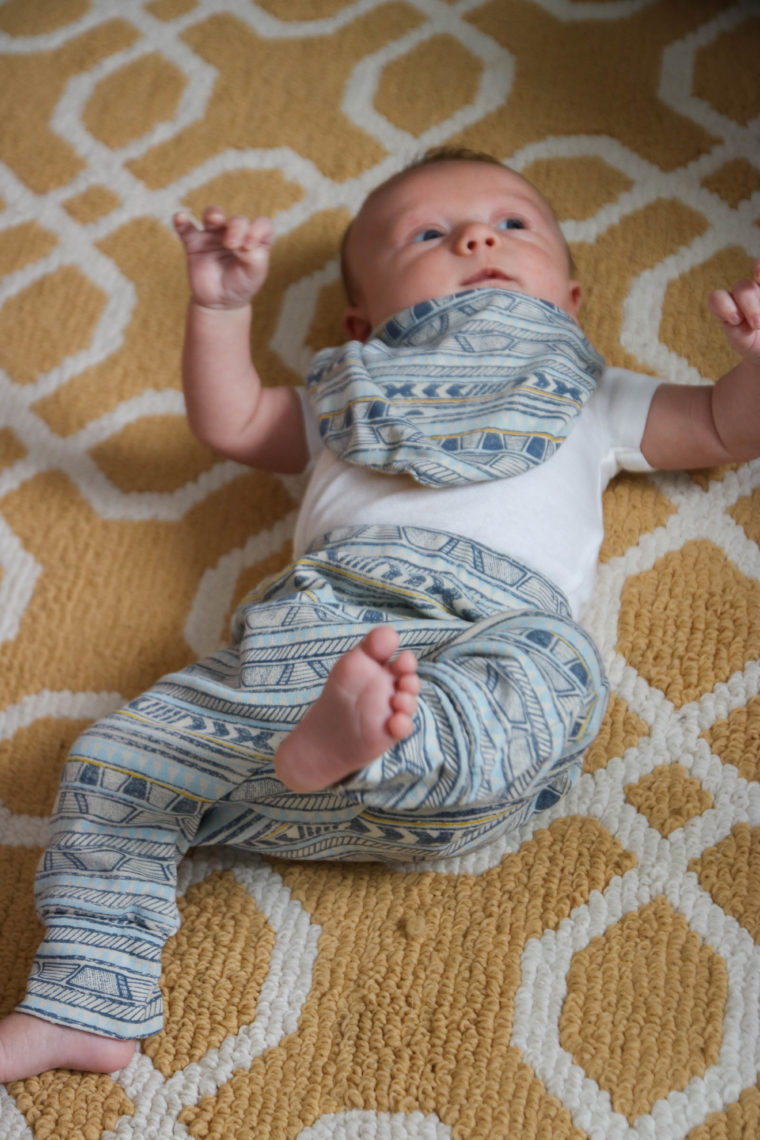 baby boy clothing, tribal stripe pants