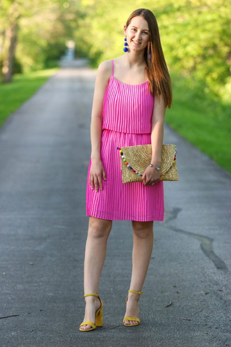for the love of glitter, pleated dress, women's fashion