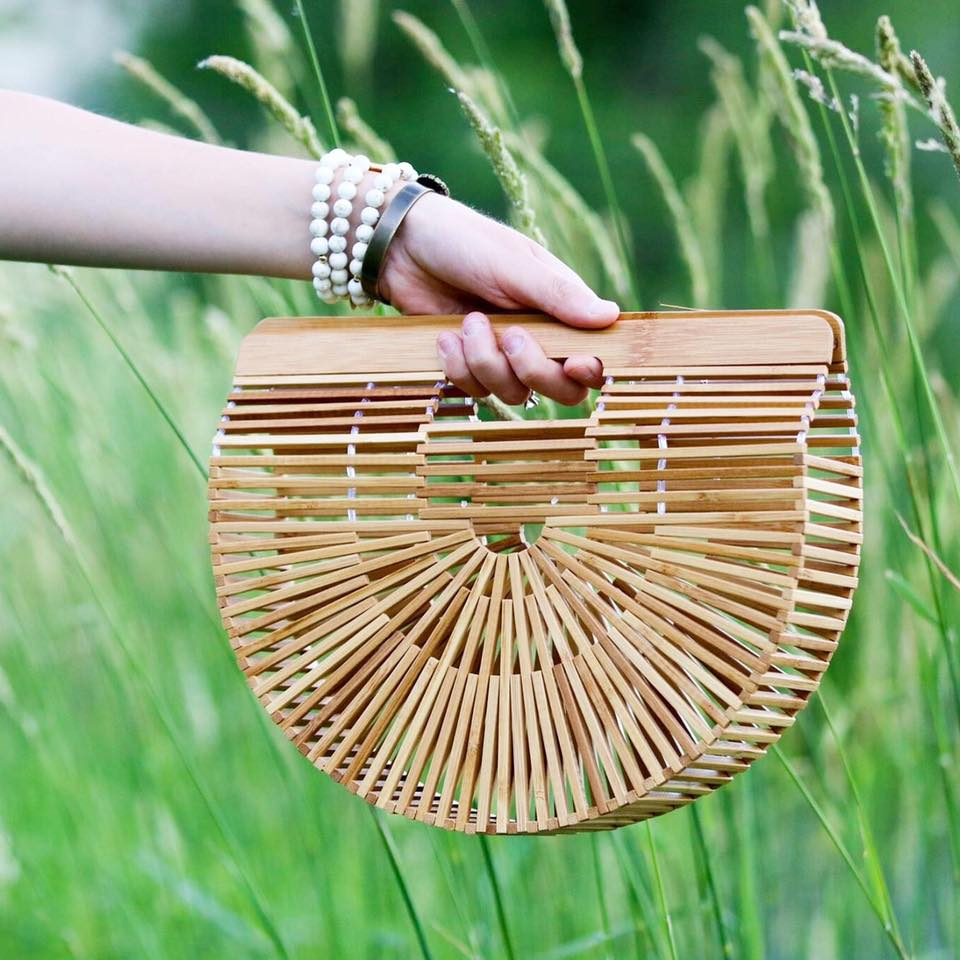 for the love of glitter, Cult Gaia bag, bamboo bag
