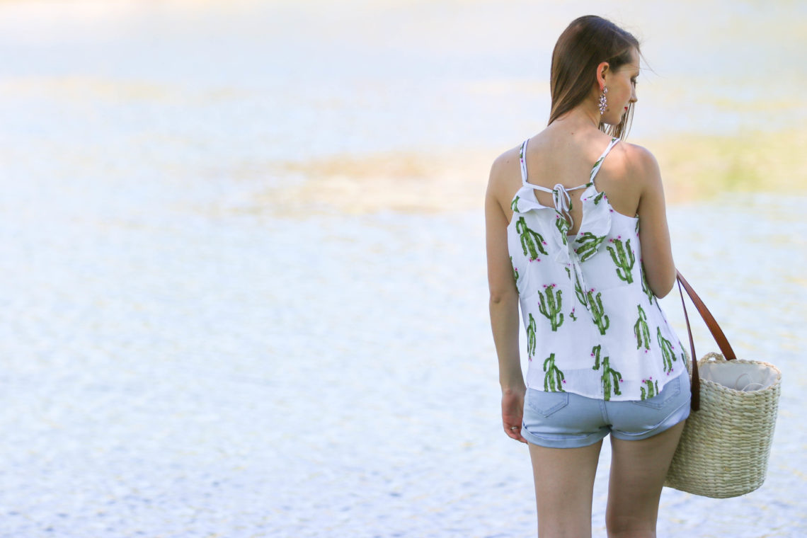 for the love of glitter, cactus top, summer style, women's fashion