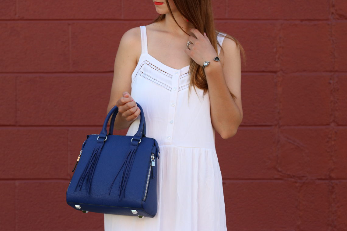 for the love of glitter, eyelet dress, red, white., and blue outfit, summer style