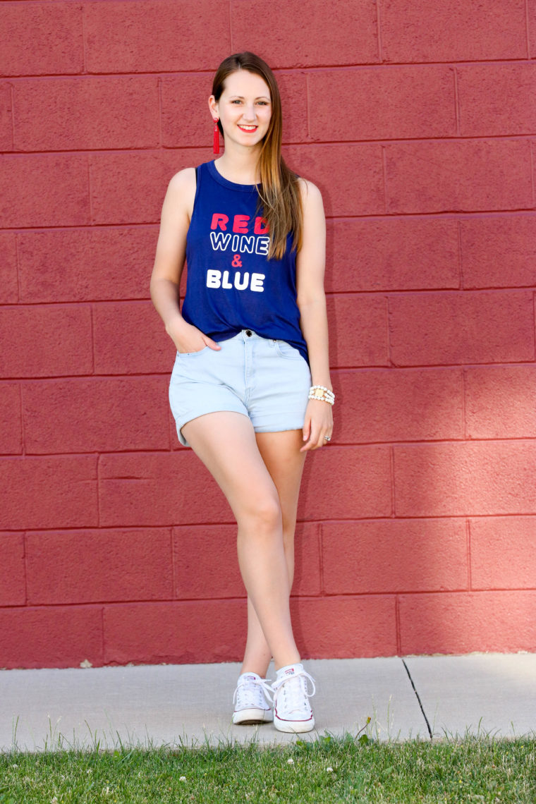 for the love of glitter, 4th of July top, 4th of July style, summer style