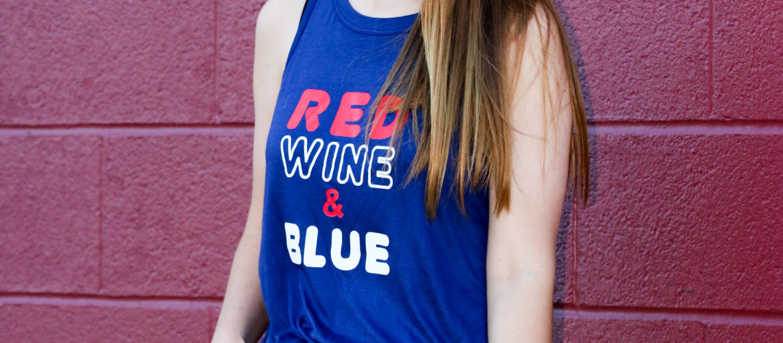 Red, Wine, and Blue Tank