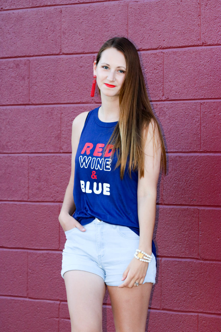 for the love of glitter, red, wine, and blue, 4th of July style, summer style