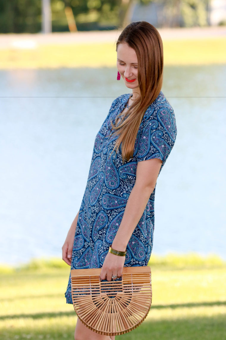for the love of glitter, lace up dress, summer style, Cult Gaia bag