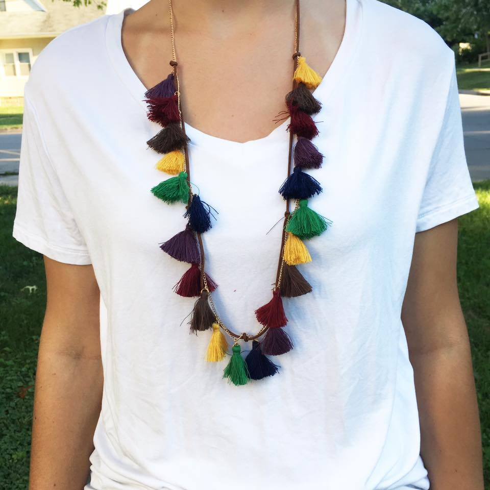 for the love of glitter, tassel necklace, Panacea Jewelry