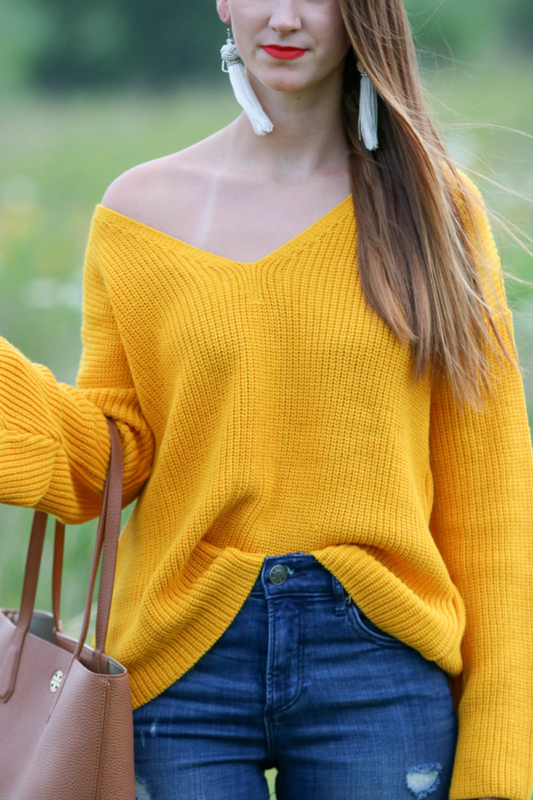 for the love of glitter, yellow sweater, fall style, nordstrom sale, women's fashion